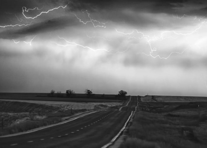 Fe Art Greeting Card featuring the photograph Chasing The Storm - County Rd 95 And Highway 52 - Colorado by James BO Insogna