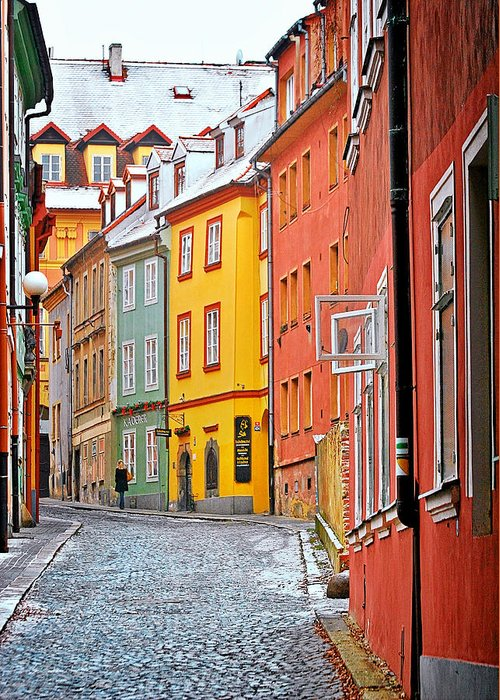 Travel Greeting Card featuring the photograph Cheb An Old-world-charm Czech Republic Town by Christine Till