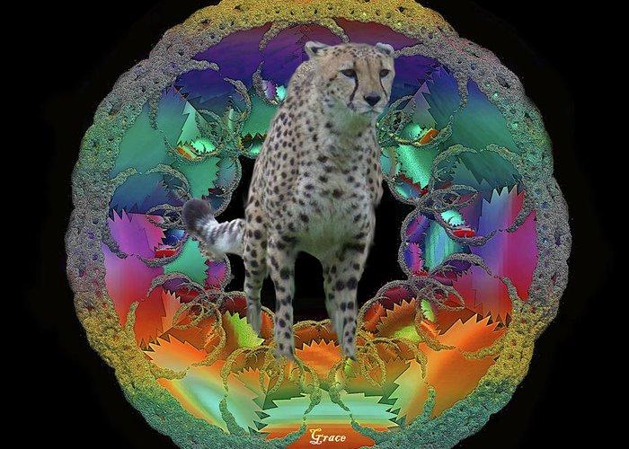 Cheetah Greeting Card featuring the photograph Cheetah by Julie Grace