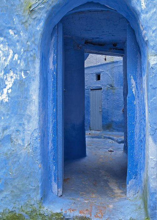 Chefchaouen Greeting Card featuring the photograph Chefchaouen 2 by Kenton Smith