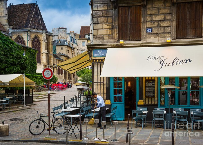 Europa Greeting Card featuring the photograph Chez Julien by Inge Johnsson