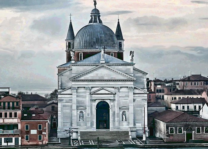 Artistic Photography Greeting Card featuring the photograph Chiesa Del Redentore Venice by Tom Prendergast