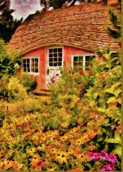 Savad Greeting Card featuring the photograph Children - The Children's Cottage by Mike Savad