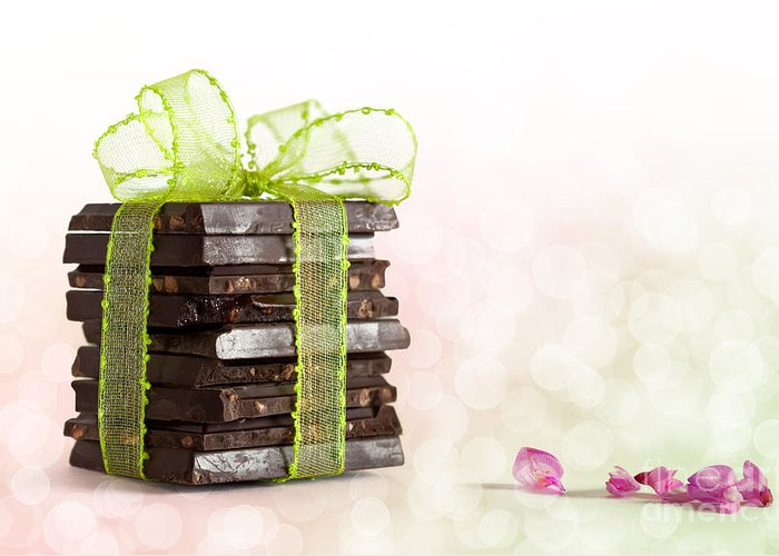 Addiction Greeting Card featuring the photograph Chocolate by Nailia Schwarz