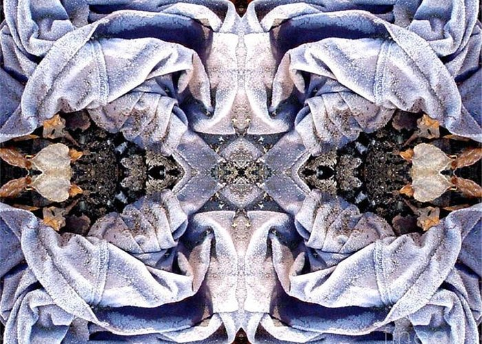 Abstract Greeting Card featuring the digital art Church Clothing by Ron Bissett