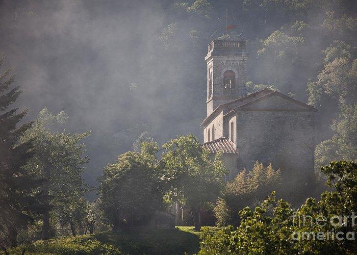 Church Greeting Card featuring the photograph Church In Partigliano by Steven Gray
