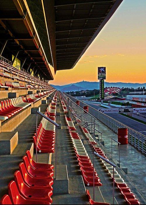 Espana Greeting Card featuring the photograph Circuit De Catalunya - Barcelona by Juergen Weiss