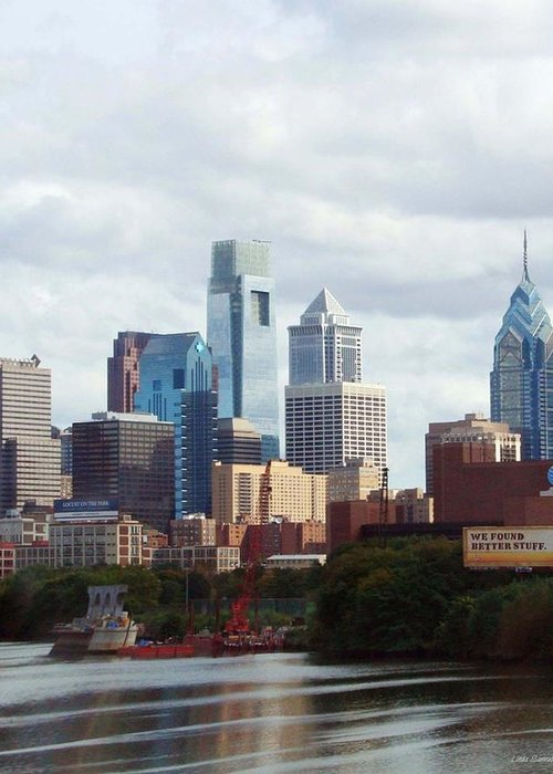 Philadelphia Greeting Card featuring the photograph City Of Philadelphia by Linda Sannuti