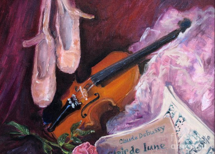 Clair De Lune Greeting Card featuring the painting Clair De Lune by B Rossitto