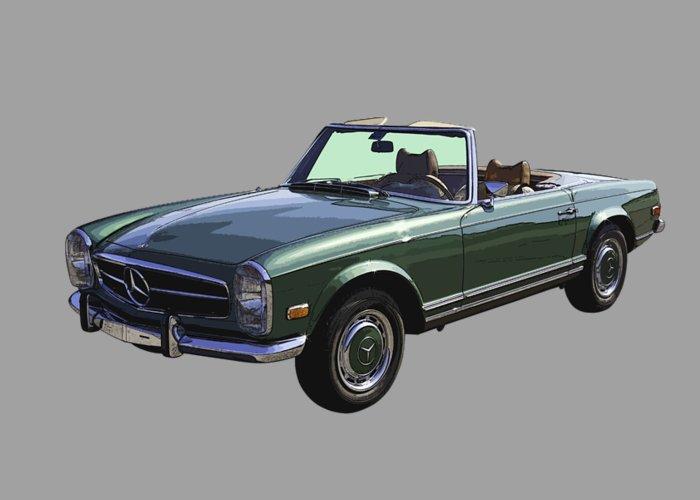 Classic mercedes benz 280 sl convertible automobile for Mercedes benz card