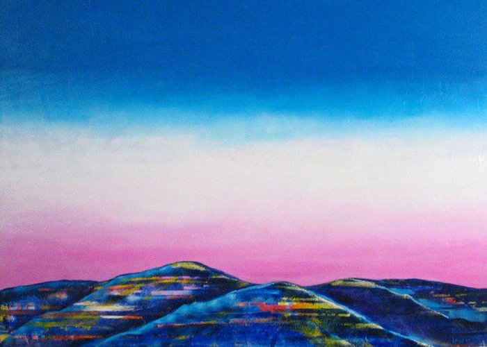 Sky Greeting Card featuring the painting Clear Day by Rollin Kocsis