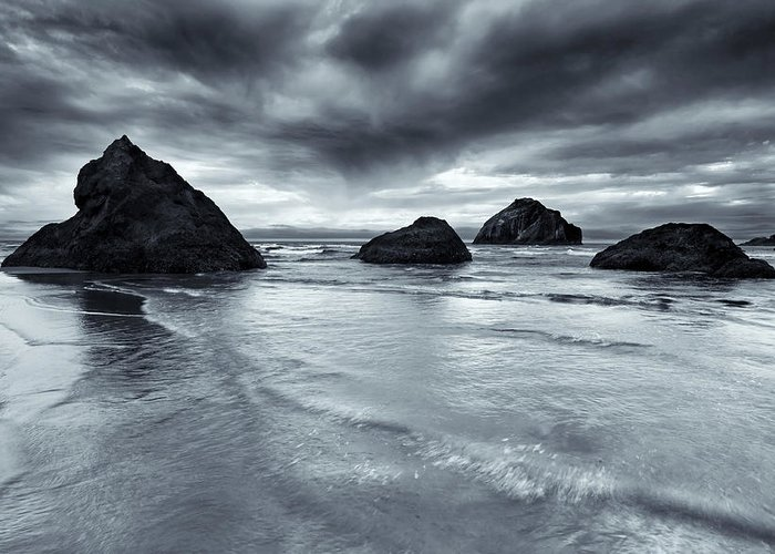 Beach Greeting Card featuring the photograph Clearing Storm by Mike Dawson