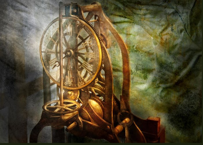 Hdr Greeting Card featuring the photograph Clockmaker - The Day Time Stood Still by Mike Savad