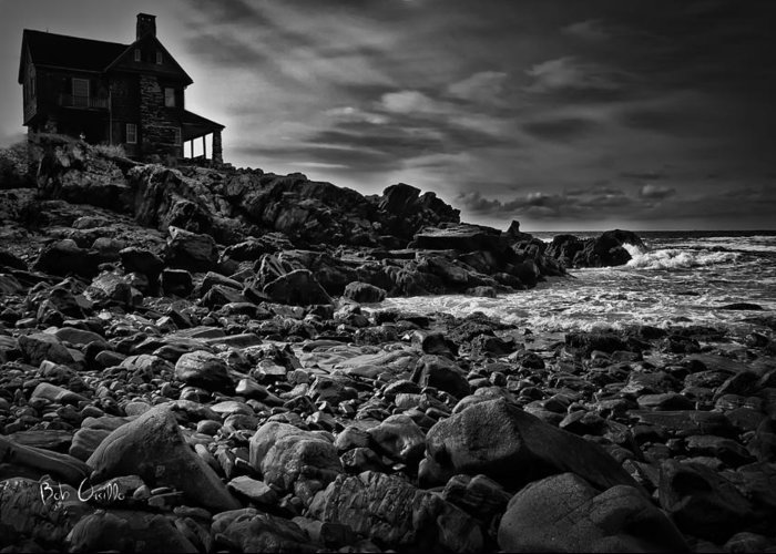 New England Greeting Card featuring the photograph Coastal Home Kennebunkport Maine by Bob Orsillo