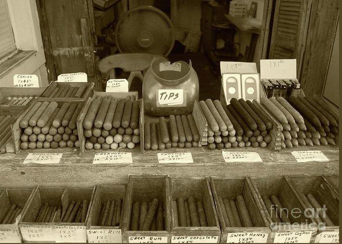 Cigar Greeting Card featuring the photograph Cohiba by Debbi Granruth