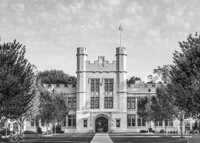 College Of Wooster Greeting Card featuring the photograph College Of Wooster Kauke Hall by University Icons