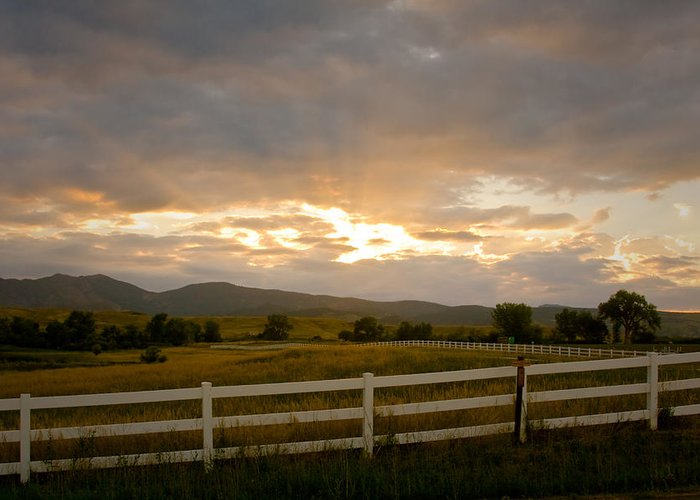 Bo Insogna Greeting Card featuring the photograph Colorado Rocky Mountain Country Sunset by James BO Insogna