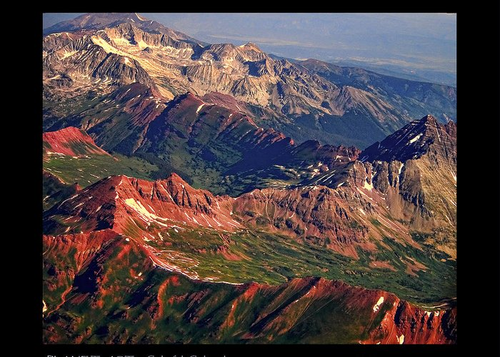 Colorful Greeting Card featuring the photograph Colorful Colorado Rocky Mountains Planet Art Poster by James BO Insogna
