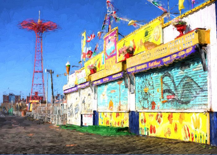 Coney Island Greeting Card featuring the photograph Colorful by JC Findley