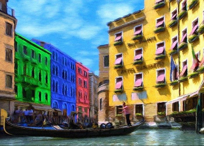 Color Greeting Card featuring the painting Colors Of Venice by Jeff Kolker