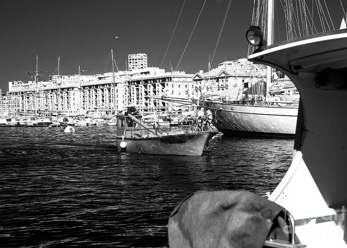 Coming Home In Marseille Greeting Card featuring the photograph Coming Home In Marseille by John Rizzuto