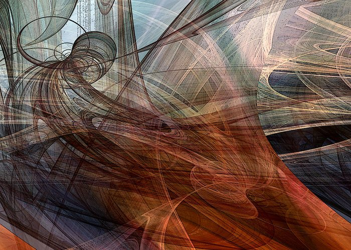 Abstract Greeting Card featuring the digital art Complex Decisions by Ruth Palmer