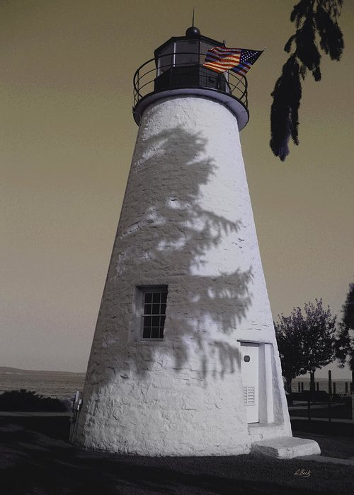 Concord Point Greeting Card featuring the photograph Concord Point Light by Gordon Beck
