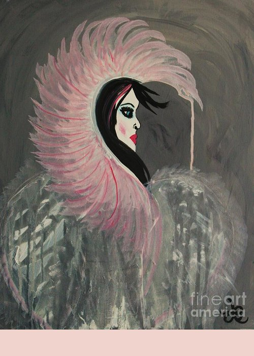 Angel Greeting Card featuring the painting Concrete Angel by LKB Art and Photography