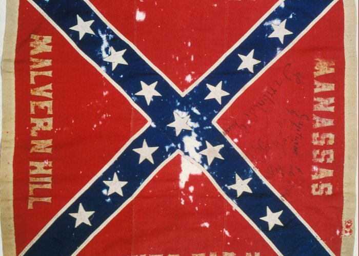 1863 Greeting Card featuring the photograph Confederate Flag by Granger
