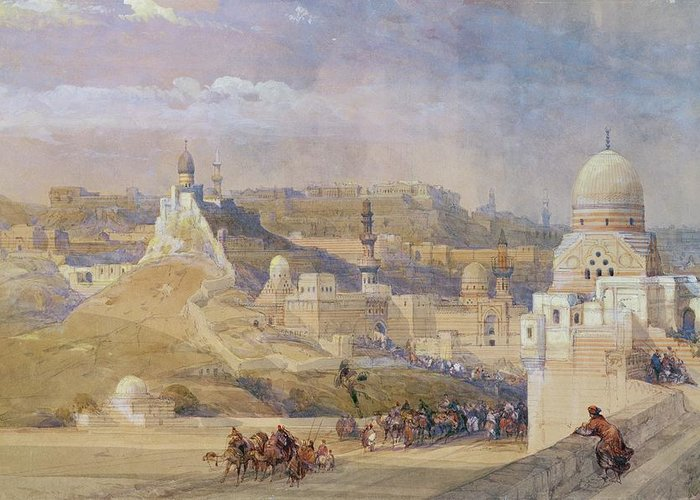 Constantinople Greeting Card featuring the painting Constantinople by David Roberts