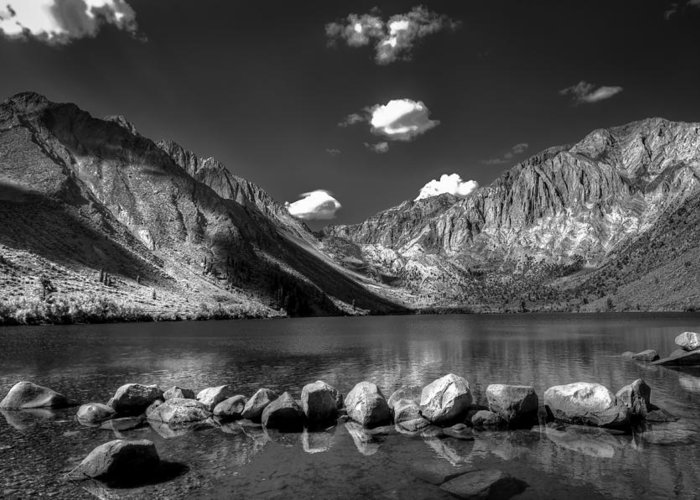Alpine Lake Greeting Card featuring the photograph Convict Lake Near Mammoth Lakes California by Scott McGuire