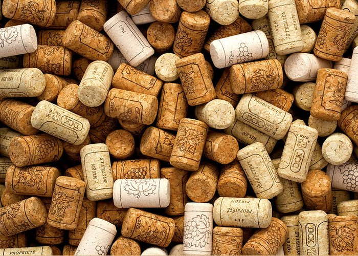 Tan Greeting Card featuring the photograph Corks by Rob Tullis