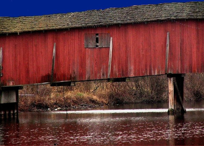Bridge Greeting Card featuring the photograph Covered Bridge by Michael L Kimble