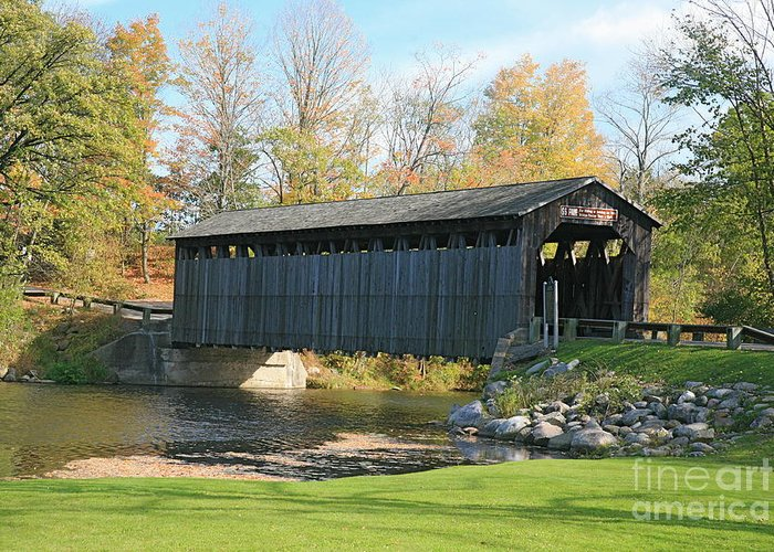 Covered Bridge Greeting Card featuring the photograph Covered Bridge by Robert Pearson