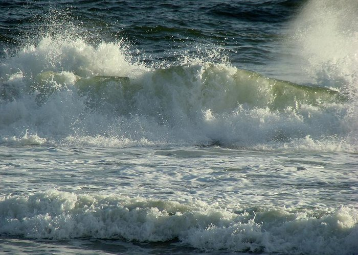 Sea Greeting Card featuring the photograph Crashing Wave by Sandy Keeton