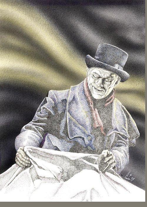 Boris Greeting Card featuring the mixed media Creepy Thoughts by Preston Shupp