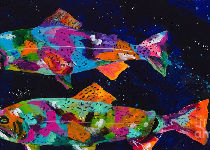 Tracy Miller Greeting Card featuring the painting Cutthroats by Tracy Miller