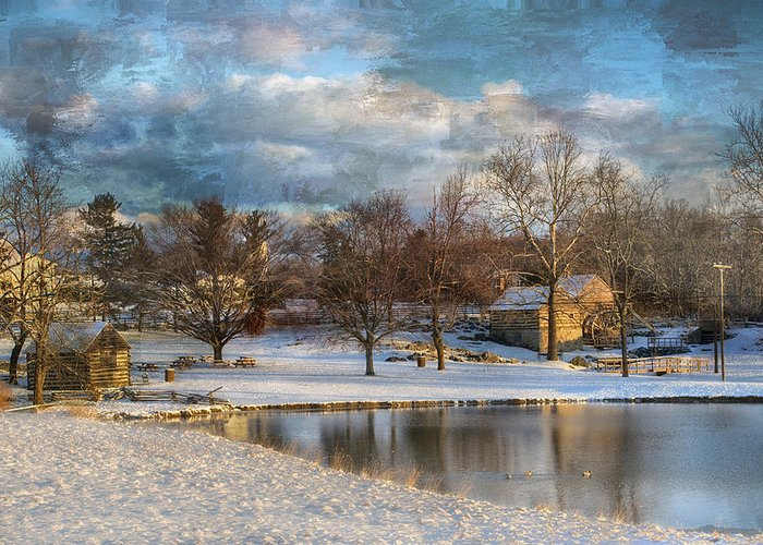 Kathy Jennings Greeting Card featuring the photograph Cyrus Mccormick Farm by Kathy Jennings