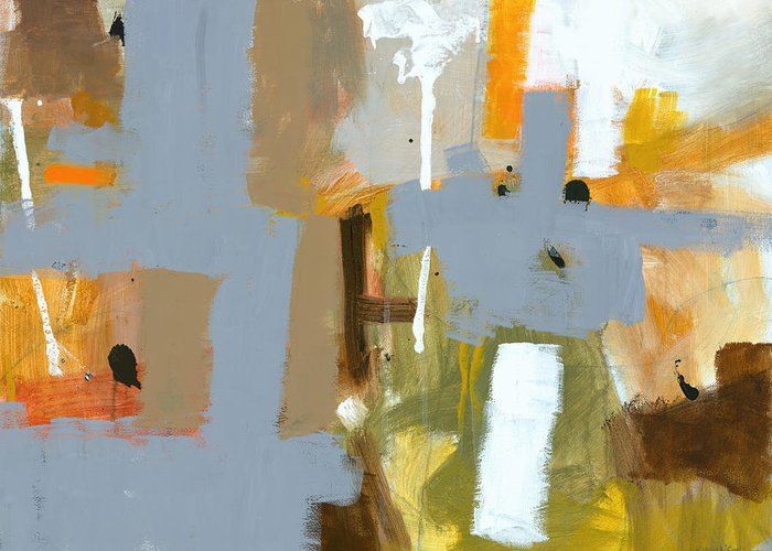 Abstract Greeting Card featuring the painting Dakota Street 6 by Douglas Simonson