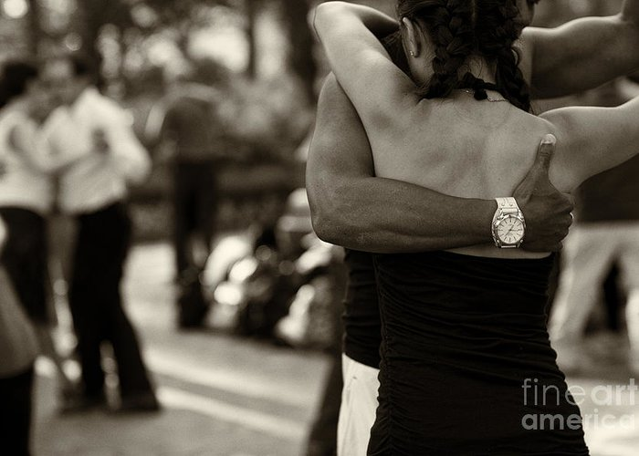 Tango Greeting Card featuring the photograph Dance With Me by Leslie Leda