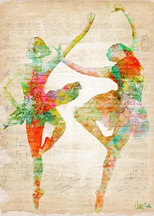 Ballet Greeting Card featuring the digital art Dance With Me by Nikki Smith
