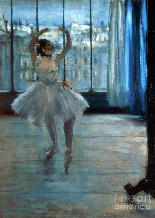 Dancer Greeting Card featuring the painting Dancer In Front Of A Window by Edgar Degas