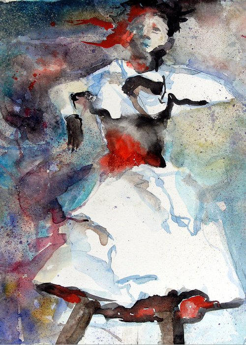 Dance Greeting Card featuring the painting Dancer by Mindy Newman