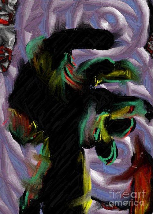 Digital Art Greeting Card featuring the digital art Dancer by Ron Bissett