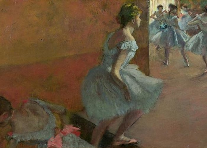 Dancers Greeting Card featuring the painting Dancers Ascending A Staircase by Edgar Degas