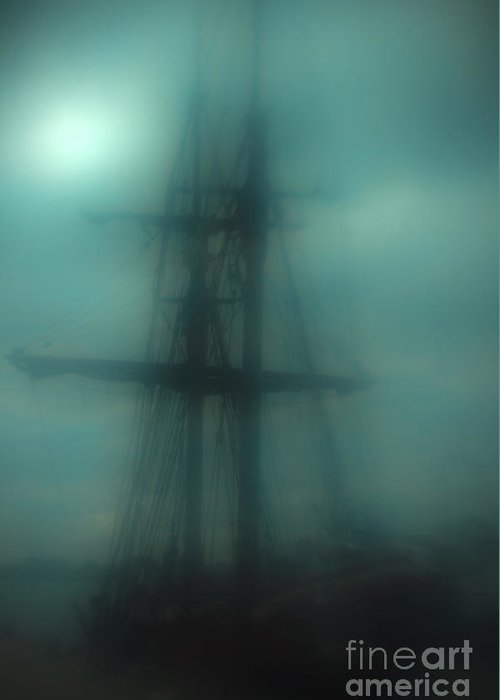 Blue Greeting Card featuring the photograph Dangerous Waters by Andrew Paranavitana