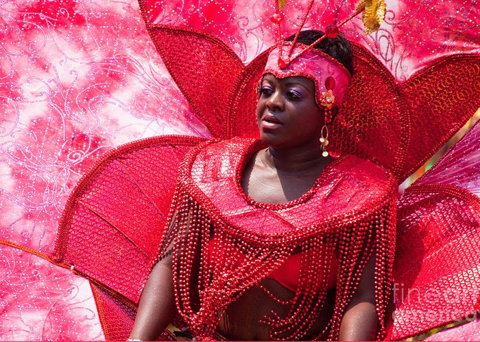 Festival Greeting Card featuring the photograph Dc Caribbean Carnival No 18 by Irene Abdou