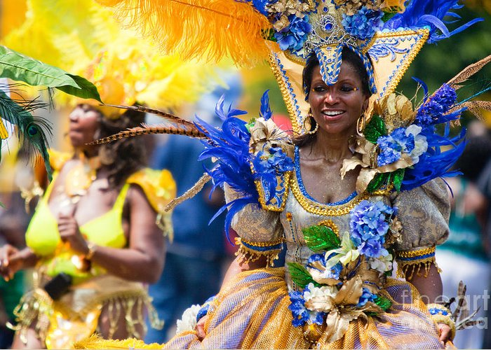 Festival Greeting Card featuring the photograph Dc Caribbean Carnival No 19 by Irene Abdou