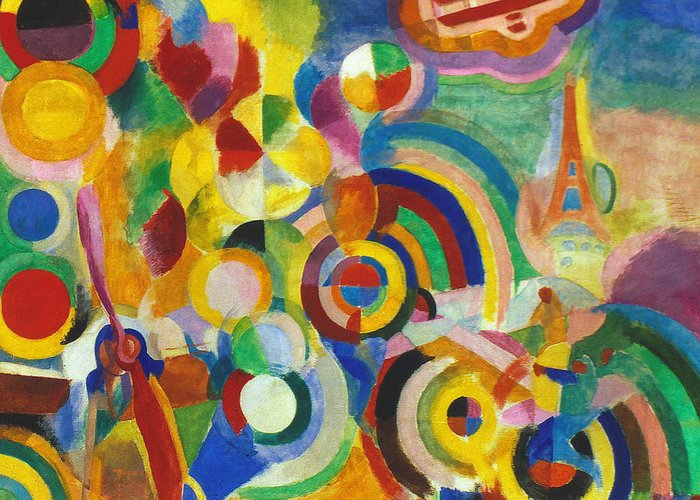 1914 Greeting Card featuring the photograph Delaunay: Hommage Bleriot by Granger