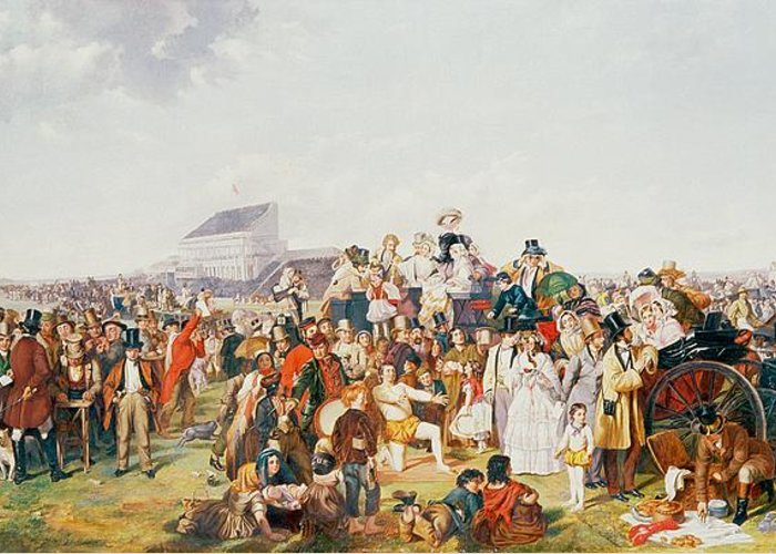Derby Greeting Card featuring the painting Derby Day by William Powell Frith